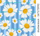 floral seamless background with ... | Shutterstock .eps vector #167175992
