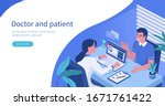 man talking with woman doctor... | Shutterstock .eps vector #1671761422