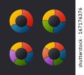 circular chart template set.... | Shutterstock . vector #167176376