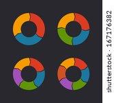 circular chart template set....   Shutterstock . vector #167176382
