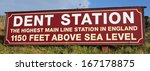sign at dent station on the... | Shutterstock . vector #167178875