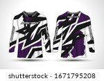 long sleeve t shirt sport... | Shutterstock .eps vector #1671795208