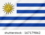waving flag of the uruguay | Shutterstock . vector #167179862