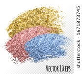 golden rose pink blue glitter... | Shutterstock .eps vector #1671873745