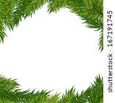 vector frame with christmas... | Shutterstock .eps vector #167191745