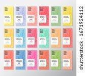 fruit and berries tea labels... | Shutterstock .eps vector #1671924112