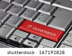 computer key   it governance | Shutterstock . vector #167192828