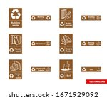 Building Recycling Signs Icon...