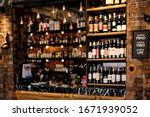 out focus of liquor bar... | Shutterstock . vector #1671939052