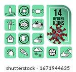 simple set of hygiene related... | Shutterstock .eps vector #1671944635
