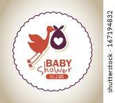 baby design over  pattern... | Shutterstock .eps vector #167194832