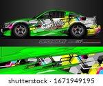 vehicle graphic kit vector.... | Shutterstock .eps vector #1671949195