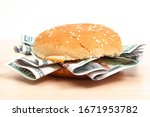 Burger With Hundred Dollar...