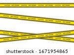 vector set of restriction tapes ... | Shutterstock .eps vector #1671954865