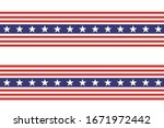 4th of july stars and stripes... | Shutterstock .eps vector #1671972442