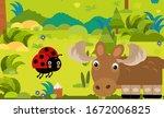 cartoon scene with different... | Shutterstock . vector #1672006825