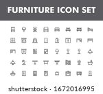 furniture icon set isolated on...