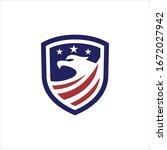 american eagle vector logo... | Shutterstock .eps vector #1672027942