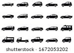 20 set of car icon vector ...