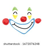 Simlpe Clown Smiling Face Red...
