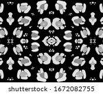 seamless leopard texture.... | Shutterstock . vector #1672082755