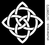beautiful 4 point celtic knot...   Shutterstock .eps vector #167208572