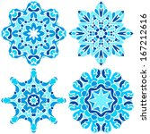 set of four snowflakes | Shutterstock .eps vector #167212616