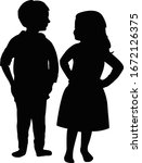 a girl and a boy together ...   Shutterstock .eps vector #1672126375