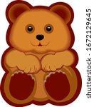 cute teddy gingerbread or...   Shutterstock .eps vector #1672129645