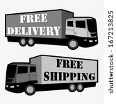 free delivery  free shipping... | Shutterstock .eps vector #167213825