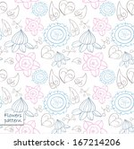 vector floral pattern. endless... | Shutterstock .eps vector #167214206