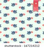 Cute Vector Pattern With Birds...