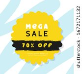 sale banner abstract design...   Shutterstock .eps vector #1672171132