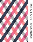 diagonal checkered plaid... | Shutterstock .eps vector #1672172752