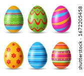 Set Of Easter Eggs Decorative....