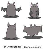 cute little bat with friends   Shutterstock .eps vector #1672261198