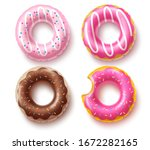 summer floater donuts set... | Shutterstock .eps vector #1672282165