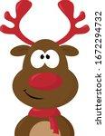 Red Nose Deer  Illustration ...