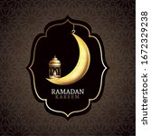 ramadan kareem celebration with ... | Shutterstock .eps vector #1672329238