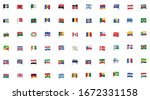 bundle of flags countries set... | Shutterstock .eps vector #1672331158