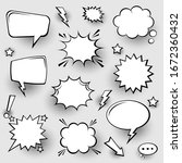 collection of empty comic... | Shutterstock .eps vector #1672360432