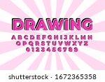 modern styled 3d trendy font... | Shutterstock .eps vector #1672365358