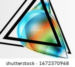 abstract background   glossy... | Shutterstock .eps vector #1672370968