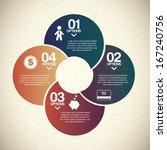 infographics design over ... | Shutterstock .eps vector #167240756