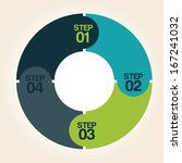 infographics design over  pink  ... | Shutterstock .eps vector #167241032