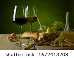 red and white wine in glass... | Shutterstock . vector #1672413208