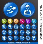 medical icons on bubble buttons ... | Shutterstock .eps vector #167241782