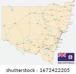 road map of the australian... | Shutterstock .eps vector #1672422205