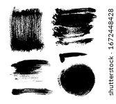 monochrome abstract vector... | Shutterstock .eps vector #1672448428