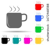 a cup of coffee multi color...